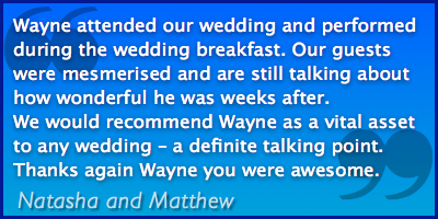 Wedding Magic Testimonial